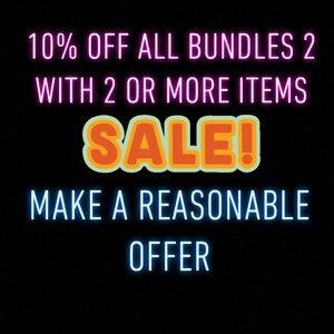 10% Off Bundles with 2 or more items!